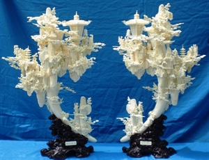 Picture of Pair of Bone Fairies Lanterns / Lamps (01A)