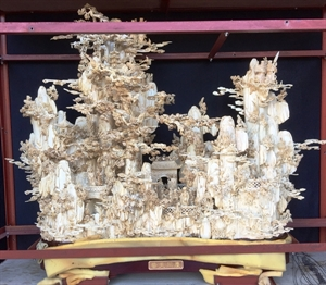 "Picture of 40"" Antique Bone Fairies Mountain (9685)"
