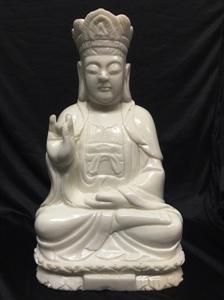 """Picture of 18"""" White Jade Buddha (wj58)"""