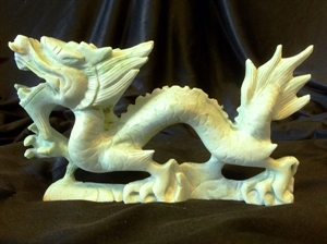 """Picture of 9"""" Light Green Jade Dragon LH27"""