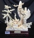 """Picture of 10"""" Hand Carved the Goats City (0605A1)"""