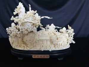 "Picture of 10"" Hand Carved Bone Temple 0408A2"
