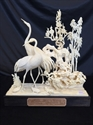 "Picture of 9"" Bone Cranes and Turtles 0310A"