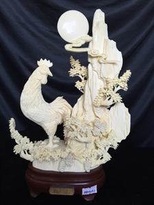 "Picture of 10"" Bone Rooster 0504a2"