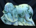 "Picture of 11"" Jade Elephant (LX14)"