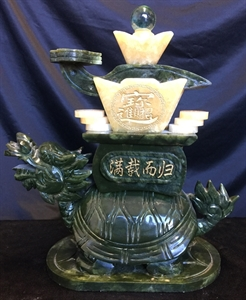 """Picture of 11"""" Jade Dragon Turtle (LX20)"""