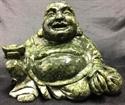 "Picture of 7"" Green Jade Sitting Buddha LG29"