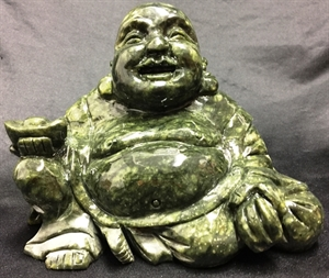 "Picture of 7"" Green Jade Sitting Buddha LG29"
