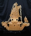 "Picture of 16"" Yellow Jade Dragon Boat (BY38)"