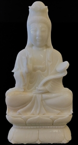"Picture of 15"" White Jade Kwanyin (wj48)"
