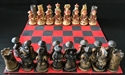 "Picture of 9""x9"" Resin Chess Set (CS01)"