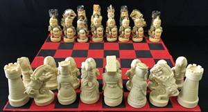 "Picture of 14""x14"" Resin Chess Set (CS02)"