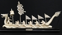 "Picture of 14"" Bone Dragon Boat with Boatmen (DB01)"