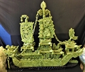 "Picture of LARGE 38"" GREEN JADE DRAGON BOAT(BJ100)"
