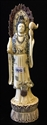 "Picture of 9.5"" Antique Bone Standing Kwanyin 0310a3"