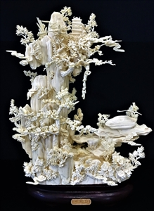 """Picture of 16"""" Bone Goats and Monkeys Mountain (02D1)"""
