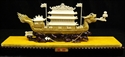 "Picture of 13"" Golden Bone Dragon Boat with Case 0911A"