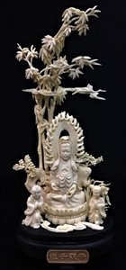 """Picture of 8"""" Bone Kwanyin with Kid 0408a5"""