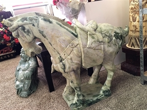 Picture of LARGE JADE SADDLED TANG HORSE (LH3C)