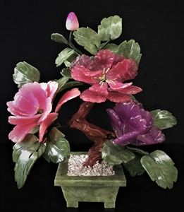 Picture of MIXED JADE BONSAI FLOWERS (202-3B)