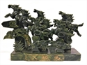 "Picture of 15"" Jade 8 Horses Mountain CY34"