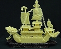 """Picture of 24"""" YELLOW JADE DRAGON BOAT (BY60)"""