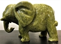 "Picture of 8"" Green Jade Elephant LG31"